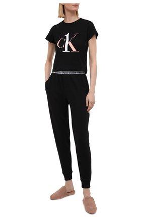 Женские брюки CALVIN KLEIN черного цвета, арт. QS6576E | Фото 2
