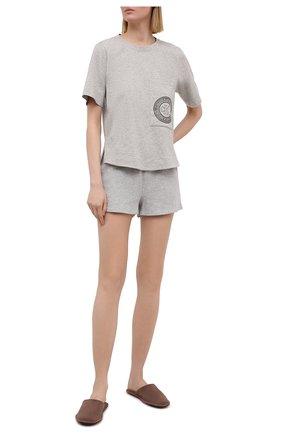 Женские хлопковые шорты CALVIN KLEIN серого цвета, арт. QS6561E | Фото 2