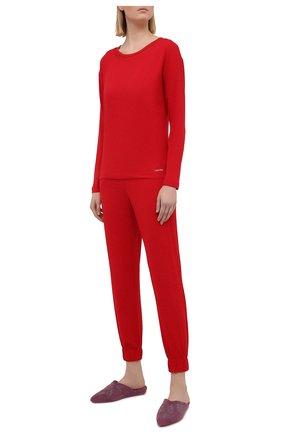 Женские брюки CALVIN KLEIN красного цвета, арт. QS6560E | Фото 2