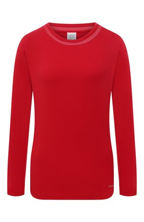 Женская лонгслив CALVIN KLEIN красного цвета, арт. QS6540E | Фото 1
