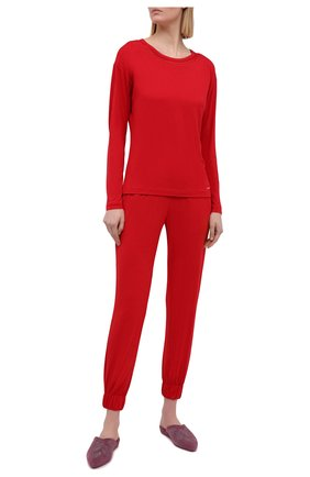 Женская лонгслив CALVIN KLEIN красного цвета, арт. QS6540E | Фото 2