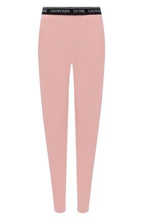 Женские хлопковые брюки CALVIN KLEIN розового цвета, арт. QS6429E | Фото 1
