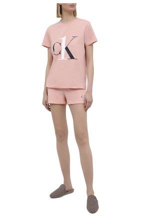 Женские шорты CALVIN KLEIN розового цвета, арт. QS6428E | Фото 2