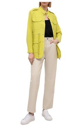 Женский шерстяной жакет LORENA ANTONIAZZI желтого цвета, арт. P2108CP021/3180 | Фото 2