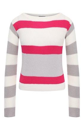 Женский хлопковый пуловер LORENA ANTONIAZZI разноцветного цвета, арт. P21113BM020/2559   Фото 1