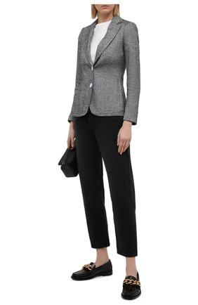 Женский льняной жакет LORENA ANTONIAZZI серого цвета, арт. P2117GA032/3377 | Фото 2