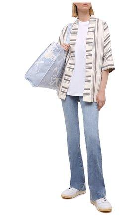 Женский жакет из льна и вискозы LORENA ANTONIAZZI бежевого цвета, арт. P2121GA028/3390 | Фото 2