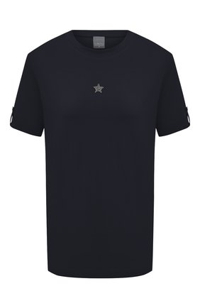Женская хлопковая футболка LORENA ANTONIAZZI темно-синего цвета, арт. P2155TS024/9999   Фото 1