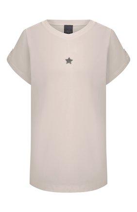 Женская хлопковая футболка LORENA ANTONIAZZI бежевого цвета, арт. P2155TS025/9999 | Фото 1