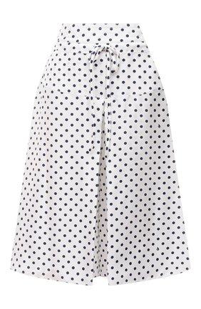 Женские шелковые шорты LANVIN черно-белого цвета, арт. RW-TR512I-4839-P21 | Фото 1