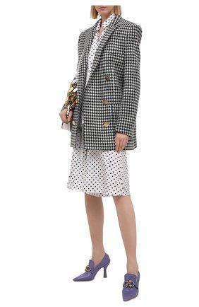 Женские шелковые шорты LANVIN черно-белого цвета, арт. RW-TR512I-4839-P21 | Фото 2