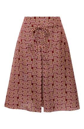 Женские шелковые шорты LANVIN бордового цвета, арт. RW-TR512I-4835-P21 | Фото 1