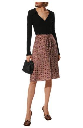 Женские шелковые шорты LANVIN бордового цвета, арт. RW-TR512I-4835-P21 | Фото 2