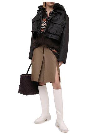 Женская юбка из шерсти и льна LANVIN темно-бежевого цвета, арт. RW-ST411U-4797-P21 | Фото 2