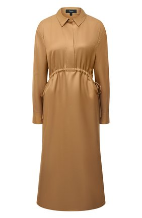 Женское платье из вискозы THEORY бежевого цвета, арт. K1106613 | Фото 1