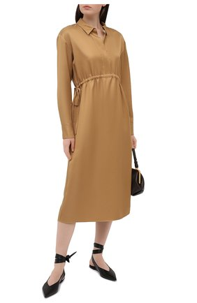 Женское платье из вискозы THEORY бежевого цвета, арт. K1106613 | Фото 2