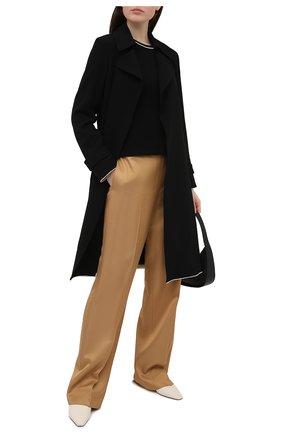 Женские брюки из вискозы THEORY бежевого цвета, арт. K1106207 | Фото 2