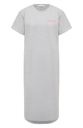 Женское хлопковое платье HELMUT LANG серого цвета, арт. K10DW601 | Фото 1