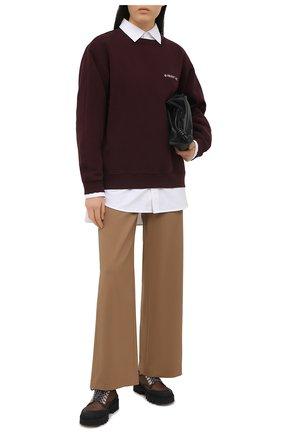 Женский хлопковый свитшот HELMUT LANG бордового цвета, арт. K10DW507 | Фото 2