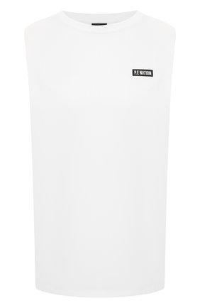 Женская хлопковая футболка P.E. NATION белого цвета, арт. 20PE4W035 | Фото 1