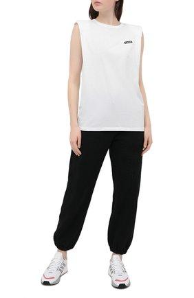 Женская хлопковая футболка P.E. NATION белого цвета, арт. 20PE4W035 | Фото 2