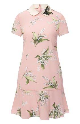 Женское шелковое платье REDVALENTINO светло-розового цвета, арт. VR3VAF09/5MR | Фото 1