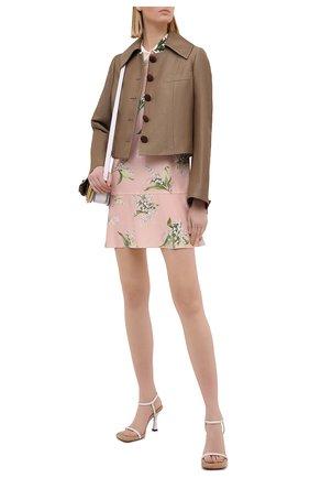 Женское шелковое платье REDVALENTINO светло-розового цвета, арт. VR3VAF09/5MR | Фото 2