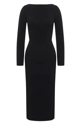 Женское платье VALENTINO черного цвета, арт. VB3VAV9665C | Фото 1