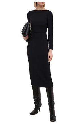 Женское платье VALENTINO черного цвета, арт. VB3VAV9665C   Фото 2