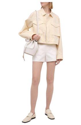 Женские хлопковые шорты VALENTINO белого цвета, арт. VB3RF1M075Y | Фото 2