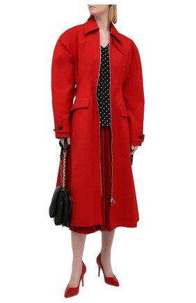 Женская плиссированная юбка VALENTINO красного цвета, арт. VB3MD02T668 | Фото 2