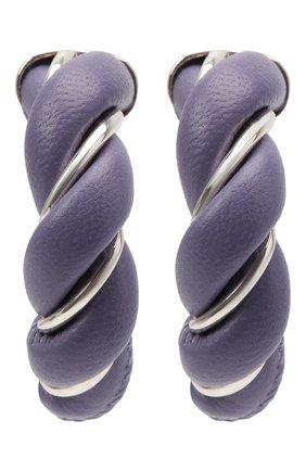 Женские серьги BOTTEGA VENETA сиреневого цвета, арт. 628948/V507C   Фото 1