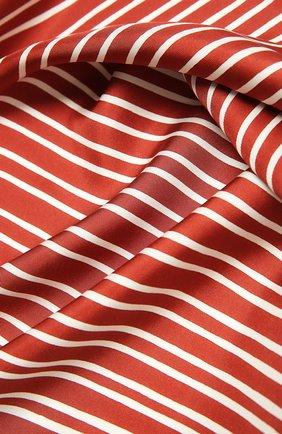 Женский шелковый платок LORO PIANA красного цвета, арт. FAL6131 | Фото 2 (Материал: Текстиль, Шелк; Принт: С принтом)