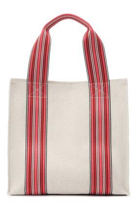 Женский сумка suitcase stripe LORO PIANA красного цвета, арт. FAL6435 | Фото 1 (Материал: Текстиль; Размер: medium; Сумки-технические: Сумки-шопперы)