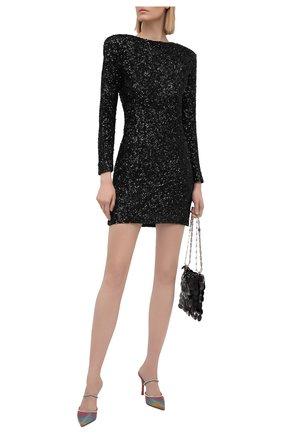 Женское платье с пайетками RETROFÊTE черного цвета, арт. PF20-2883 | Фото 2