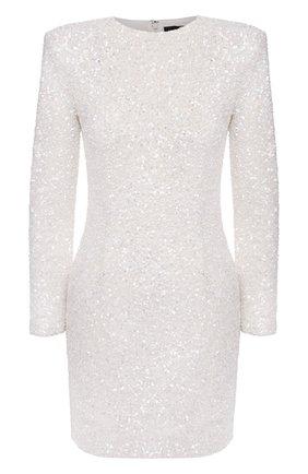 Женское платье с пайетками RETROFÊTE белого цвета, арт. PF20-2883 | Фото 1