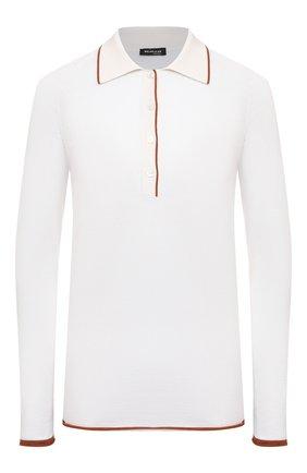Женский кашемировый пуловер KITON белого цвета, арт. D51709 | Фото 1