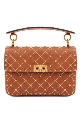 Женская сумка valentino garavani rockstud spike VALENTINO коричневого цвета, арт. VW2B0122/JXM | Фото 1