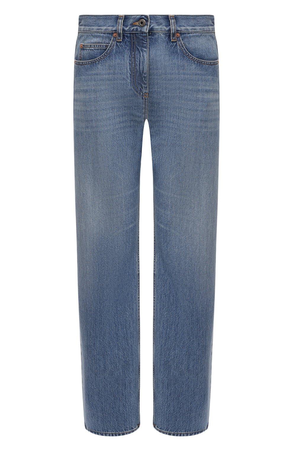 Женские джинсы VALENTINO синего цвета, арт. VB3DD11H559   Фото 1