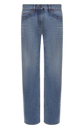 Женские джинсы VALENTINO синего цвета, арт. VB3DD11H559 | Фото 1