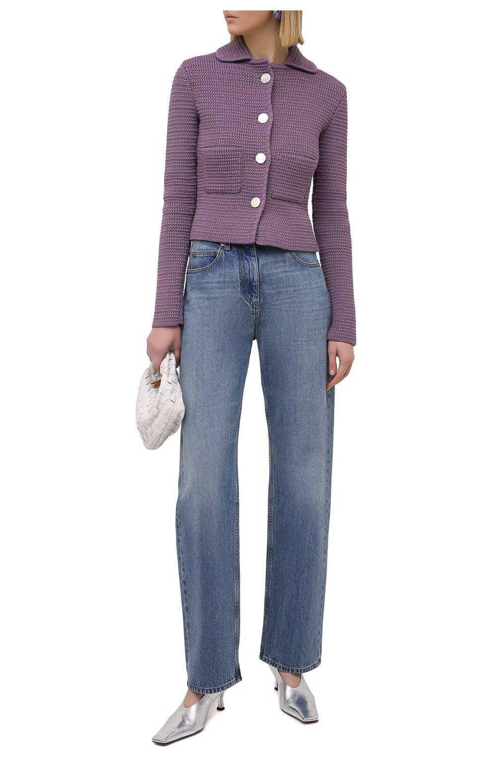 Женские джинсы VALENTINO синего цвета, арт. VB3DD11H559   Фото 2