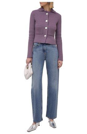 Женские джинсы VALENTINO синего цвета, арт. VB3DD11H559 | Фото 2