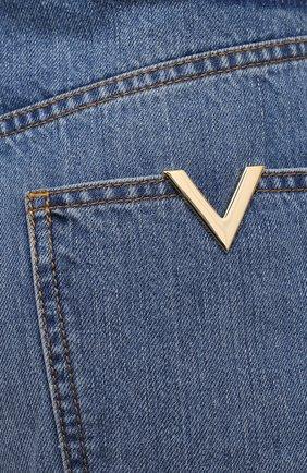 Женские джинсы VALENTINO синего цвета, арт. VB3DD11H559   Фото 5