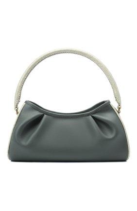 Женская сумка dimple ELLEME серого цвета, арт. DIMPLE/LEATHER/CR0C0 PEARL | Фото 1