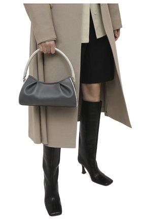 Женская сумка dimple ELLEME серого цвета, арт. DIMPLE/LEATHER/CR0C0 PEARL | Фото 2
