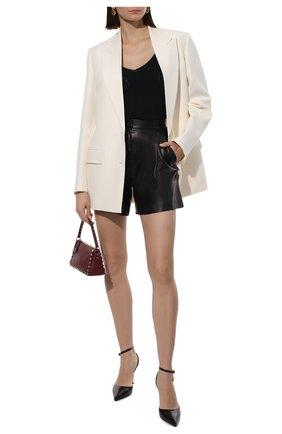 Женские кожаные шорты DROME черного цвета, арт. DPD7013P/D400P | Фото 2