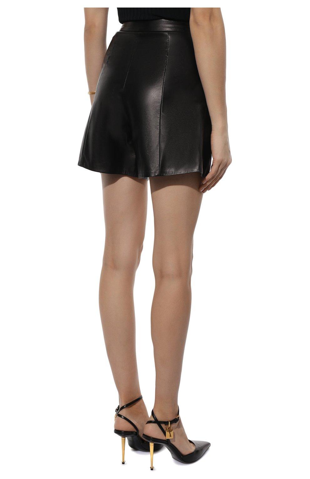 Женские кожаные шорты DROME черного цвета, арт. DPD7013P/D400P | Фото 4