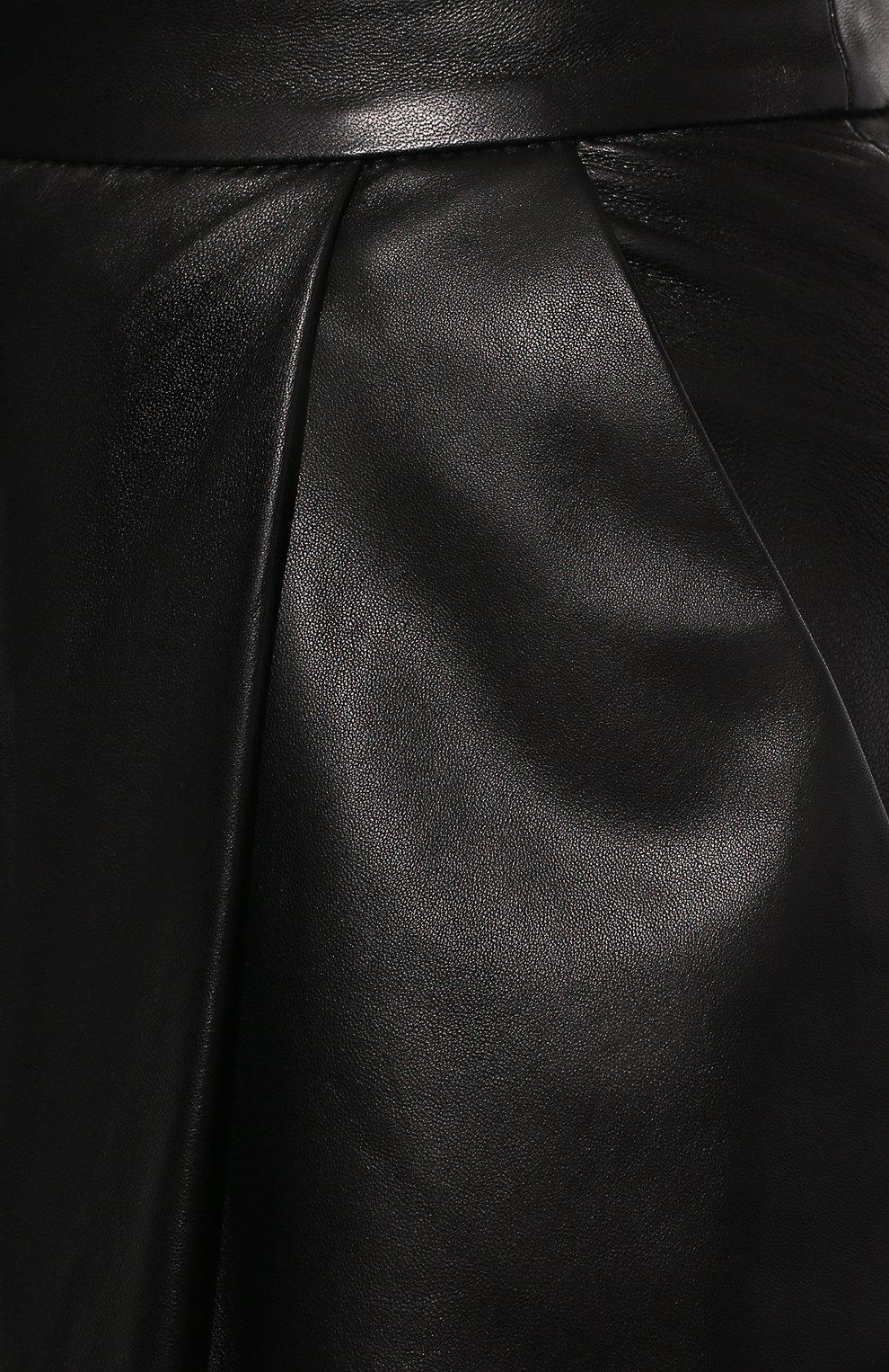 Женские кожаные шорты DROME черного цвета, арт. DPD7013P/D400P | Фото 5