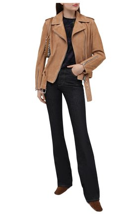 Женская замшевая куртка DROME бежевого цвета, арт. DPD3105P/D1020P | Фото 2