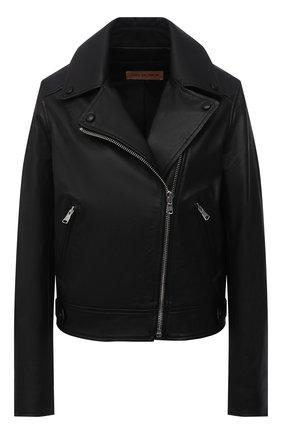 Женская кожаная куртка YVES SALOMON черного цвета, арт. 21EYV21652APAN | Фото 1